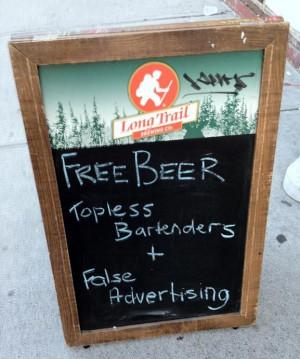 Funny pub signs