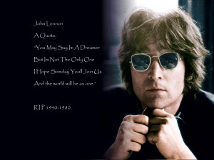 John Lennon Quotes Imagine John lennon quote picture