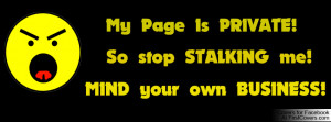 Stop Stalking Profile Facebook Covers