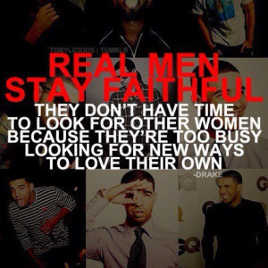 Real men don't cheat!