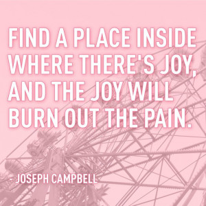 Here's to finding joy. #SaveLids #JosephCampbell