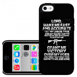 Lord Gun Prayer With Protection Quote Phone Case For iPhone 4,4s,5,5s ...