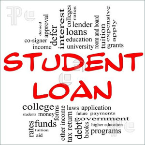 Student Loan Word Cloud Concept in red and black letters with great ...