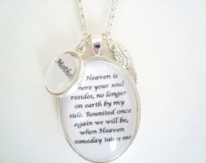 ... , Remembrance Jewelry, Memorial Jewelry, Heaven Quote, original poem