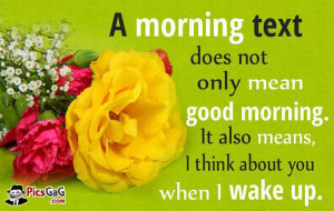 think about you good morning texts and cute good morning text ...