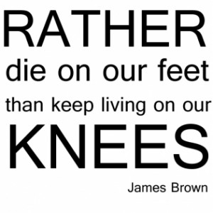 image of James Brown Quote Wall Sticker