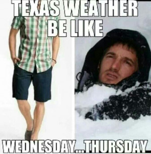 Lol our weather is all jacked up