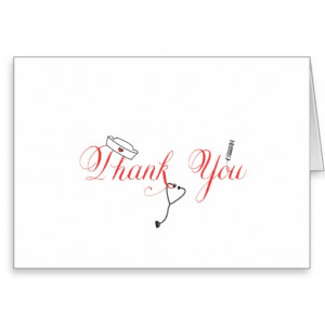 Nurse Thank You Note Red Hand Calligraphy RN Cards