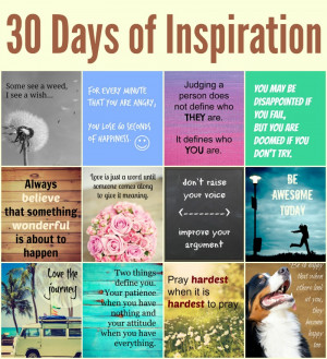 30 days of inspirational quotes, motivational quotes and just good old ...