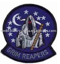 Embroidery applique army patches-Grim Reaper.