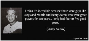 More Sandy Koufax Quotes
