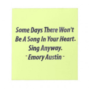 Emory Austin Inspirational Quote Motivational Word Memo Note Pads