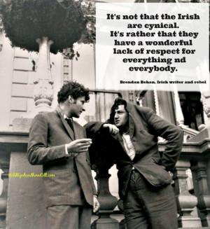 Lucian Freud, grandson of Sigmund, with Irish writer Brendan Behan ...