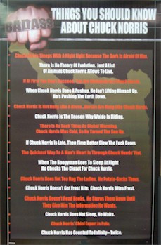 Chuck Norris - Badass Quotes Poster