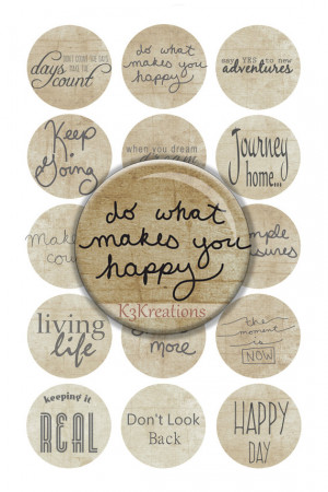 Bottle Cap Inspirational Sayings 1 Inch - Digital Collage Sheet ...