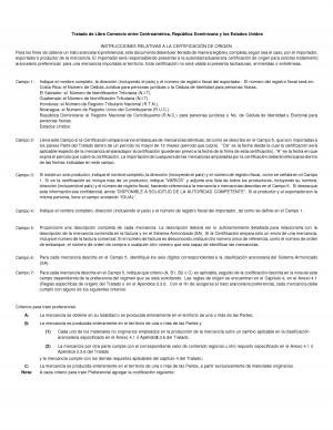 Instructivo De Llenado Certificado Origen Cafta Drxls picture
