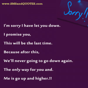 Sorry I Let You Down Quotes