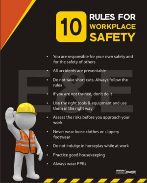 Safety Posters ›› Workplace Safety