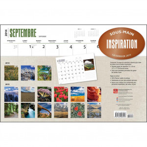 ... > Inspirational Quotes >Inspiration 2015 Desk Pad (French