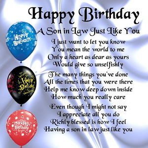 Personalised-Coaster-Son-in-Law-Poem-Happy-Birthday-Design-FREE-GIFT ...