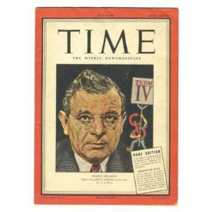 Time Magazine PONY Edition Sidney Hillman 1944