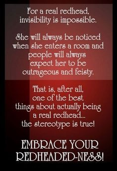 ... redhead i love redheads quotes about redheads red head embrace your