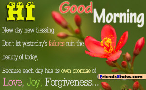 New day new blessing.Don't let Yesterday's Failures ruin the ...