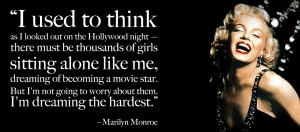Inspirational quote by Marilyn Monroe with Picture !!