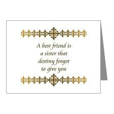 Friend Friendship Saying Sayings Thank You Cards & Note Cards