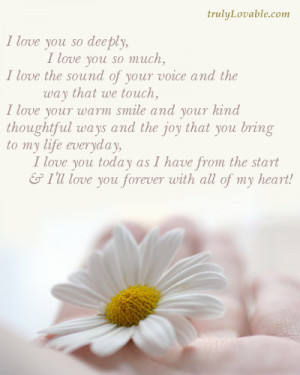 love you so deeply,