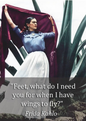 Feet, what do I need you for when I have wings to fly?