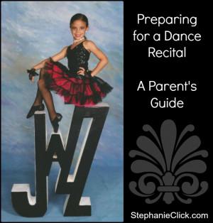 dance recital prep
