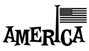 America: Word America with Flag.Check out my color version:http://www ...