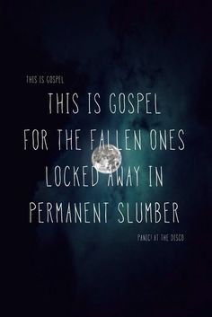 This Is Gospel - Panic! At the Disco. Possibly my favorite song of ...
