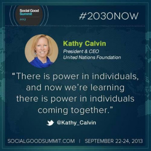 Social Good Individual power quote #2030now