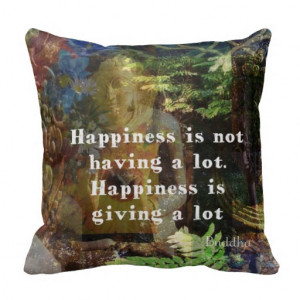 Inspirational BUDDHA quote about happiness Pillows