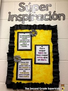 ... Quote Freebie in Spanish bulletin board, inspirational quotes, educ