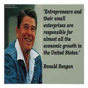 Ronald Reagan Entrepreneur Quote Poster
