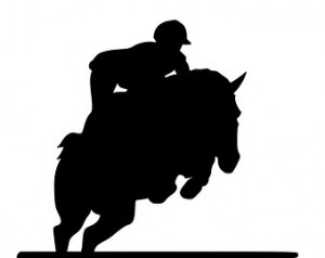 Horse-Champions English Horse Quote 2-Horse wall decal-Large 28 x 47 ...