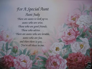 SPECIAL AUNT PERSONALIZED POEM
