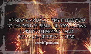 New Year Blessings Quotes & Sayings