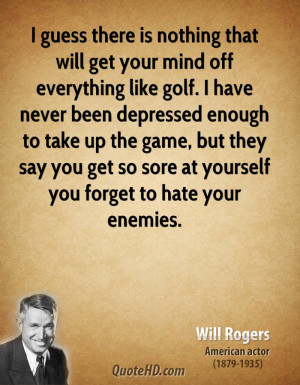 Will Rogers Sports Quotes