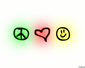 Love peace wallpaper Free Desktop