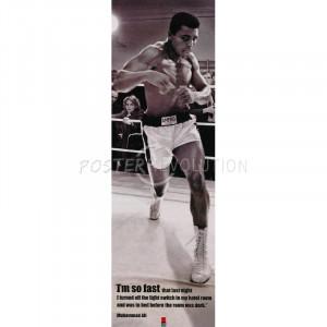 Muhammad Ali (I'm So Fast, Quote) Sports Poster