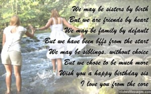 sister birthday quotes for facebook