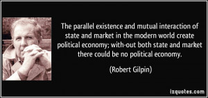 The parallel existence and mutual interaction of state and market in ...