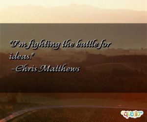 Fighting The Battle...