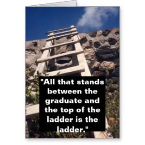 Congratulations Graduation Card w Ladder Quote