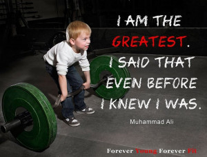 motivational fitness quote I am the greatest... www ...