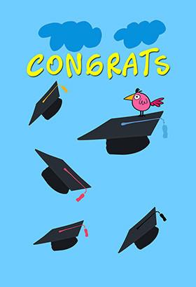 Printable Congratulations Greeting Card - Congratulations Graduate